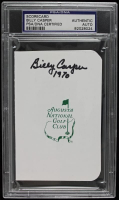 "Billy Casper Signed Augusta National Golf Club Scorecard Inscribed ""1970"" (PSA Encapsulated) at PristineAuction.com"