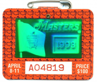 1993 Masters Augusta National Golf Club Badge Ticket at PristineAuction.com