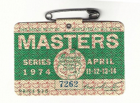 1974 Masters Augusta National Golf Club Badge Ticket at PristineAuction.com