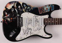 "KISS 39"" Electric Guitar Band-Signed by (4) with Gene Simmons, Tommy Thayer, Eric Singer & Paul Stanley (PSA Hologram) at PristineAuction.com"