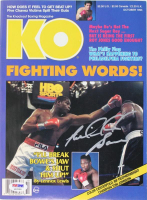Riddick Bowe Signed 1993 Knockout Boxing Magazine (PSA COA) at PristineAuction.com