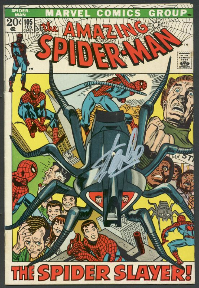 """Stan Lee Signed 1963 """"The Amazing Spider-Man"""" The Spider Slayer #105 Marvel Comic Book (PSA Hologram) at PristineAuction.com"""