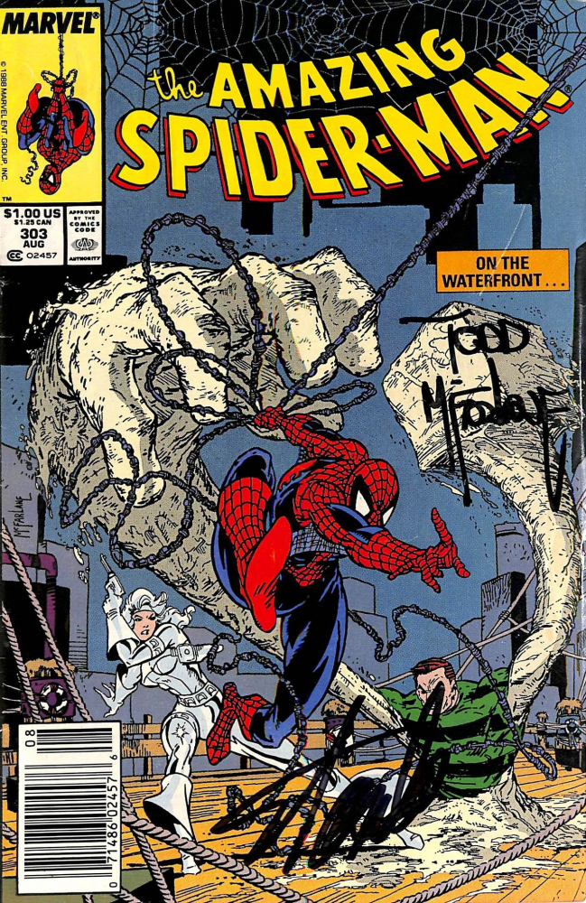 """Stan Lee & Todd McFarlane Signed 1988 """"The Amazing Spider-Man"""" #303 Marvel Comic Book (Beckett Hologram) at PristineAuction.com"""