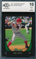 2011 Bowman Draft #101 Mike Trout RC (BCCG 10) at PristineAuction.com