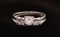 1 Platinum & White Gold Diamond Bridal Set at PristineAuction.com