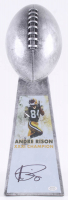 Andre Rison - Packers - Signed Large Lombardi Trophy (Schwartz COA) at PristineAuction.com