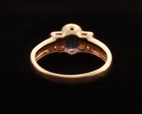 14KT Yellow Gold Tanzanite & Diamond Ring at PristineAuction.com