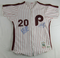 Mike Schmidt Signed Phillies Jersey with Multiple Career Highlight Stat Inscriptions (JSA COA) at PristineAuction.com
