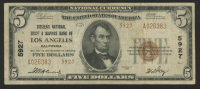 1929 $5 U.S. National Currency Bank Note - Citizens National Trust & Savings Bank of Los Angeles, California at PristineAuction.com