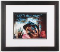 "Robert Englund Signed ""A Nightmare on Elm Street"" 14.75x16.75 Custom Framed Photo Display Inscribed ""Let's Get High!"" & ""Freddy Krueger"" (Hollwoodmemorabilia.com Hologram) at PristineAuction.com"
