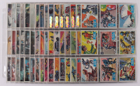 Lot of (3) Batman Card Sets with (1) 1966 B Series Blue Bat Complete Set of (44), (1) 1966 A Series Red Bat Complete Set of (44), & (1) 1966 Color Complete Set of (55) at PristineAuction.com