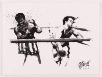 """Joe Petruccio Signed Sylvester Stallone """"The Punch"""" 12x16 LE Giclee (PA LOA & Petruccio COA) at PristineAuction.com"""
