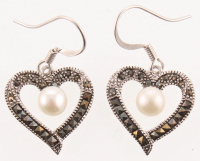 Silver Tone Marcasite Earrings at PristineAuction.com
