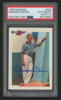 Mariano Rivera Signed 1992 Bowman #302 RC (PSA Encapsulated) at PristineAuction.com