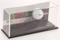 Tiger Woods Signed Limited Edition Commemorativer Card Display with Range Driven Nike Golf Ball (UDA Hologram) at PristineAuction.com