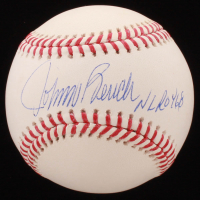 "Johnny Bench Signed OML Baseball Inscribed ""NL ROY 68"" (JSA COA) at PristineAuction.com"