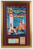 "Disneyland ""TWA"" 17x26 Custom Framed Print Display with Vintage Ticket Booklet & Parking Receipt at PristineAuction.com"