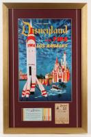 "Disneyland ""TWA"" 17x26 Custom Framed Print Display with Vintage Ticket Booklet & Parking Receipt at PristineAuction.com"