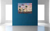 "Greg Matsey Signed ""Viva Las Vegas"" 36x48x1 Mixed Media Giclee at PristineAuction.com"