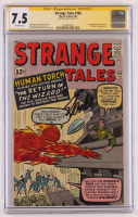 "Stan Lee Signed 1963 ""Strange Tales"" Issue #105 Marvel Comic Book (CGC 7.5) at PristineAuction.com"
