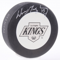 Wayne Gretzky Signed Kings Logo Hockey Puck (JSA COA) at PristineAuction.com