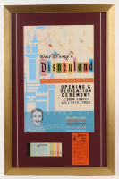 Disneyland 17x26 Custom Framed Print Display with Parking Pass & Ticket Booklet at PristineAuction.com