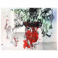 "Mark Kostabi ""Alternate Memories"" Signed 22x30 Original Artwork at PristineAuction.com"