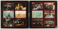 """Star Wars Soundtrack"" Vinyl Record Album Cover Signed by (4) with Mark Hamill, George Lucas, Carrie Fisher & Harrison Ford (Beckett LOA) at PristineAuction.com"