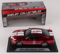 Carroll Shelby Signed 2011 Ford Shelby GT350 1:18 Scale Metal Die Cast Car (PSA Hologram) at PristineAuction.com