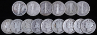 Lot of (15) 1918-1945 Mercury Silver Dimes at PristineAuction.com