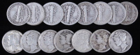 Lot of (15) 1918-1944 Mercury Silver Dimes at PristineAuction.com