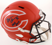 "Brian Urlacher Signed Bears Full-Size AMP Alternate Speed Helmet Inscribed ""HOF 2018"" (Beckett COA) at PristineAuction.com"