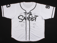 """""""The Sandlot"""" Jersey Cast-Signed by (6) with Tom Guiry, Chauncey Leopardi, Marty York, Victor Di Mattia with Inscriptions (JSA COA) at PristineAuction.com"""
