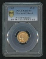 1915 $2.50 Indian Head Quarter Eagle Gold Coin (PCGS AU Details) at PristineAuction.com