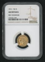 1911 $2.50 Indian Head Quarter Eagle Gold Coin (NGC Genuine, AU Details) at PristineAuction.com