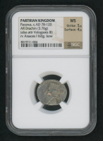 Pacorus c.AD 78-120 - Parthian Kingdom, AR Drachm Ancient Silver Coin (NGC MS) at PristineAuction.com