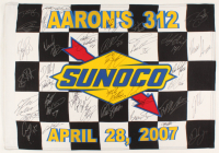 2007 Talladega Aaron's 312 Sunoco NASCAR 22x32 Checkered Flag Signed by (37) with Dale Earnhardt Jr., Kyle Busch, Martin Truex Jr., Tony Stewart, Kasey Kahne (JSA ALOA) at PristineAuction.com