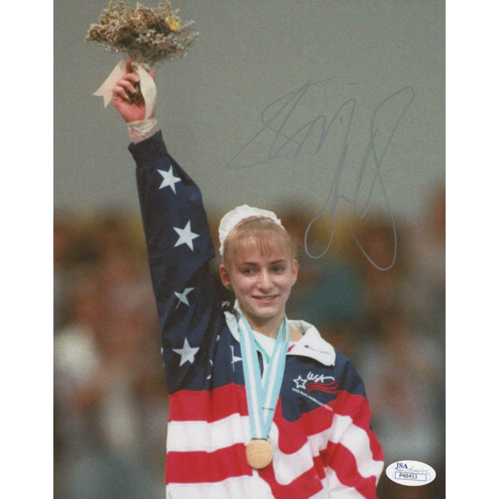 Shannon Miller Autographed 8x10 Beam White