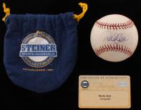 Derek Jeter Signed Game-Used OML Baseball (Steiner COA) at PristineAuction.com