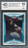 2008 Bowman Chrome Draft Prospects #BDPP128 Buster Posey Autograph (BCCG 10) at PristineAuction.com
