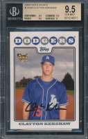 Clayton Kershaw 2008 Topps Update #UH240 RC (BGS 9.5) at PristineAuction.com