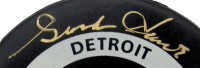 Gordie Howe Signed Red Wings Logo Hockey Puck (PSA COA) at PristineAuction.com