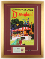 "Walt Disney's ""Disneyland"" 19x25 Custom Framed Print Display with Ticket & Vintage Brass Jungle Cruise Pin at PristineAuction.com"