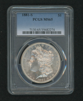 1881-S Morgan Silver Dollar (PCGS MS65) at PristineAuction.com