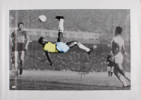 Pele Signed Team Brazil 25.5x35.25 Print on Canvas (PSA COA) at PristineAuction.com