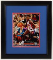 Isiah Thomas Signed Pistons 15x17 Custom Framed Photo Display (SportsMemorabilia.com COA & JSA Hologram) at PristineAuction.com