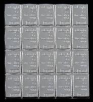 Lot of (20) 1 Gram Silver Valcambi Mint Bullion Bars at PristineAuction.com