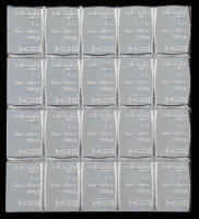 Lot of (20) 1 Gram Silver Valcambi Mint Bullion Bars at PristineAuction.com