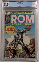"""1979 """"ROM Spaceknight"""" Issue #1 Marvel Comic Book (CGC 8.5) at PristineAuction.com"""
