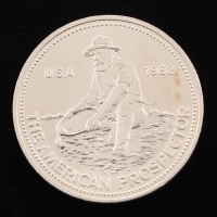 Vintage Engelhard - The American Prospector 1 Troy Ounce .999 Fine Silver Bullion Round at PristineAuction.com